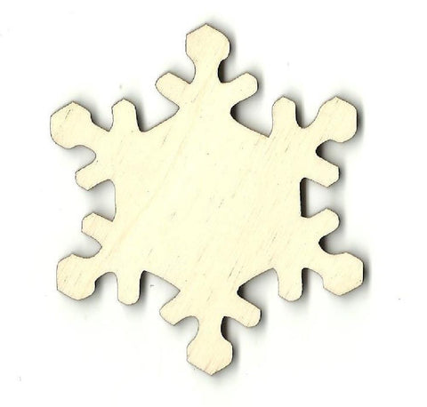 Snowflake - Laser Cut Wood Shape Snw11 Craft Supply