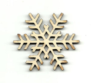 Snowflake - Laser Cut Wood Shape Snw12 Craft Supply