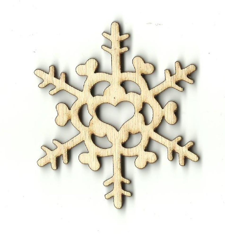 Snowflake - Laser Cut Wood Shape Snw14 Craft Supply