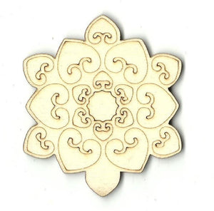 Snowflake - Laser Cut Wood Shape Snw1 Craft Supply