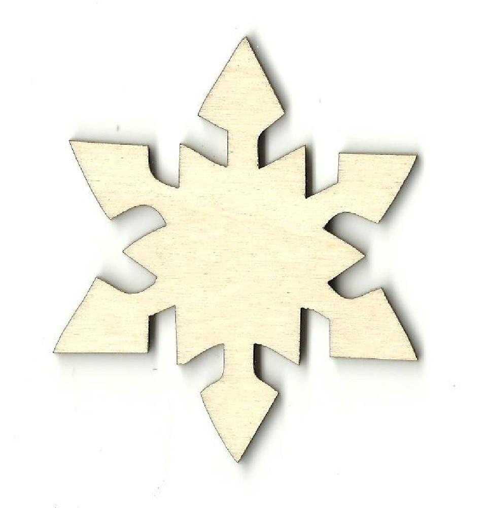 Snowflake - Laser Cut Wood Shape Snw20 Craft Supply