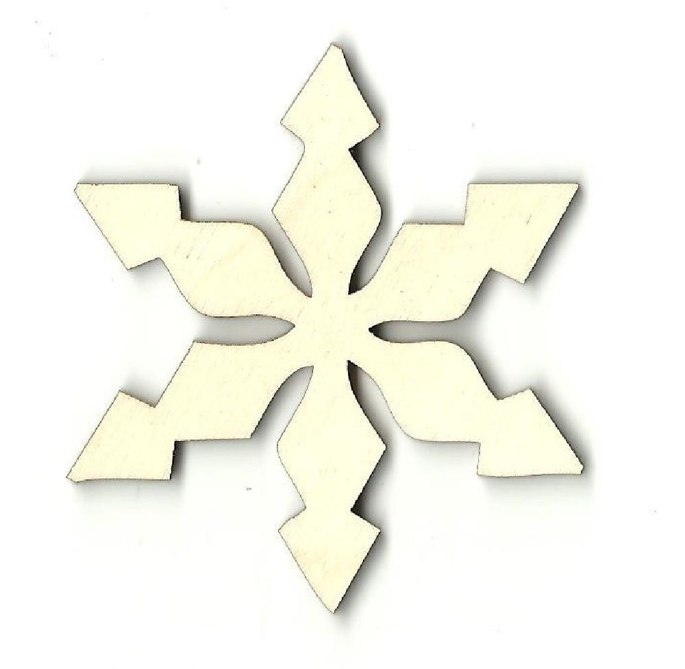 Snowflake - Laser Cut Wood Shape Snw21 Craft Supply