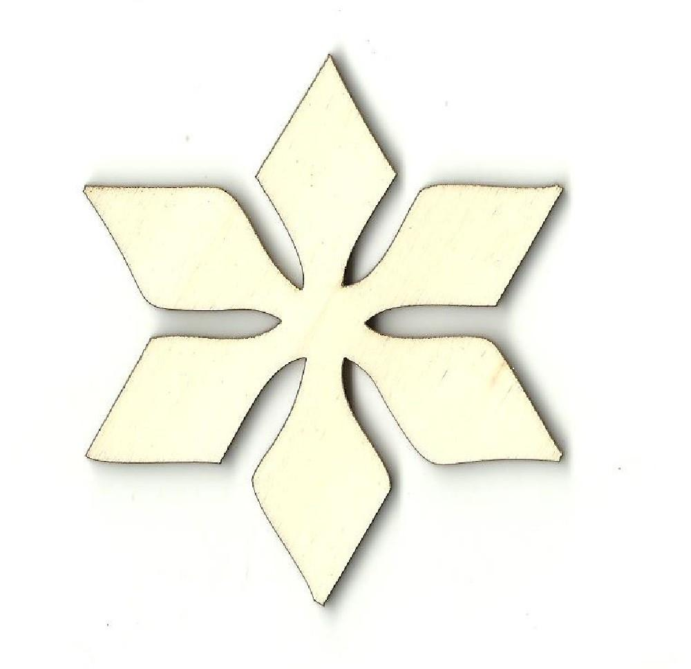 Snowflake - Laser Cut Wood Shape Snw22 Craft Supply
