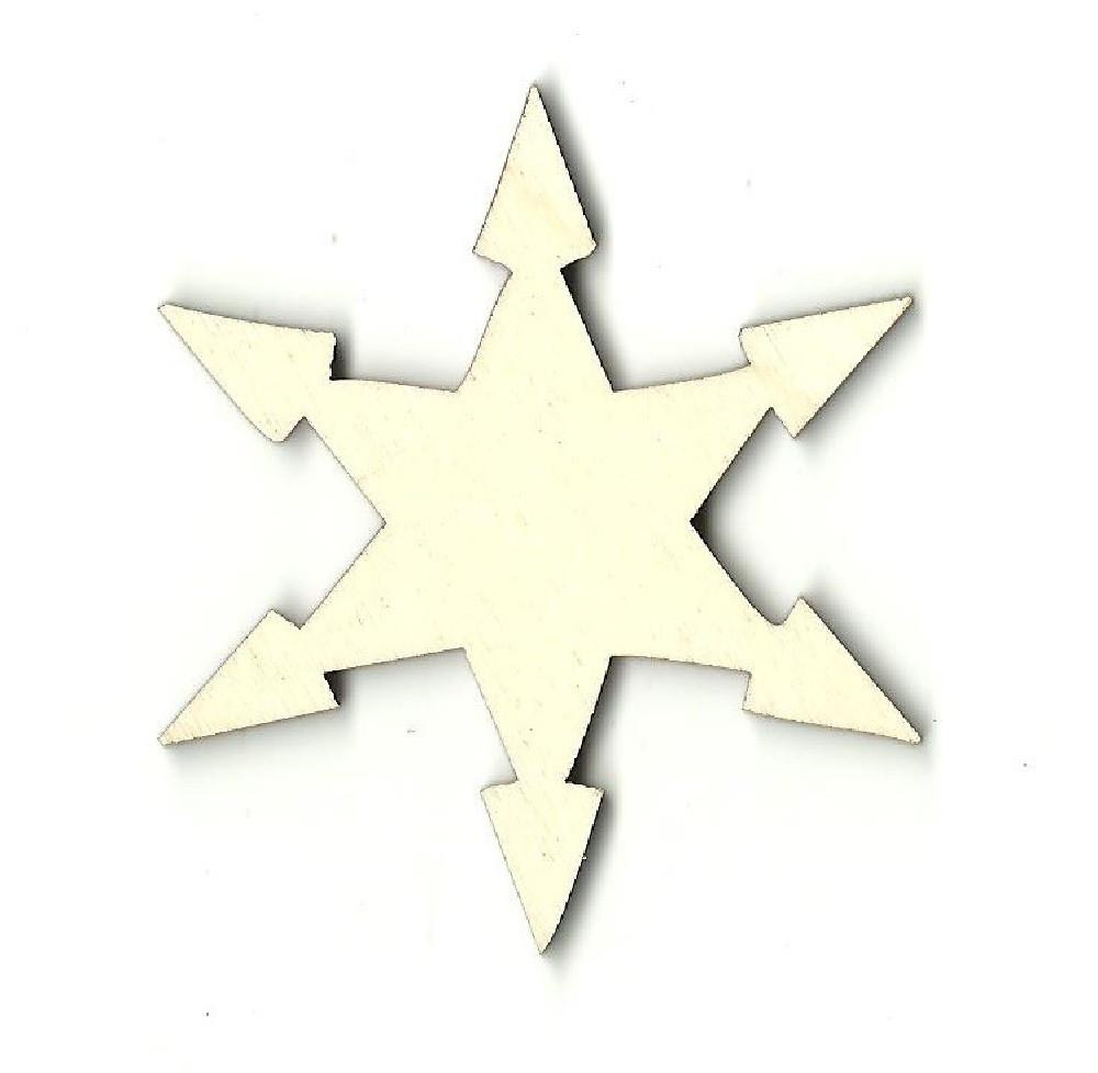 Snowflake - Laser Cut Wood Shape Snw23 Craft Supply