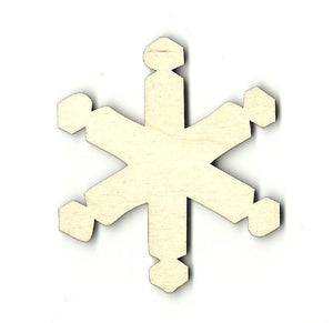 Snowflake - Laser Cut Wood Shape Snw26 Craft Supply