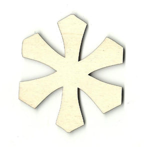 Snowflake - Laser Cut Wood Shape Snw28 Craft Supply