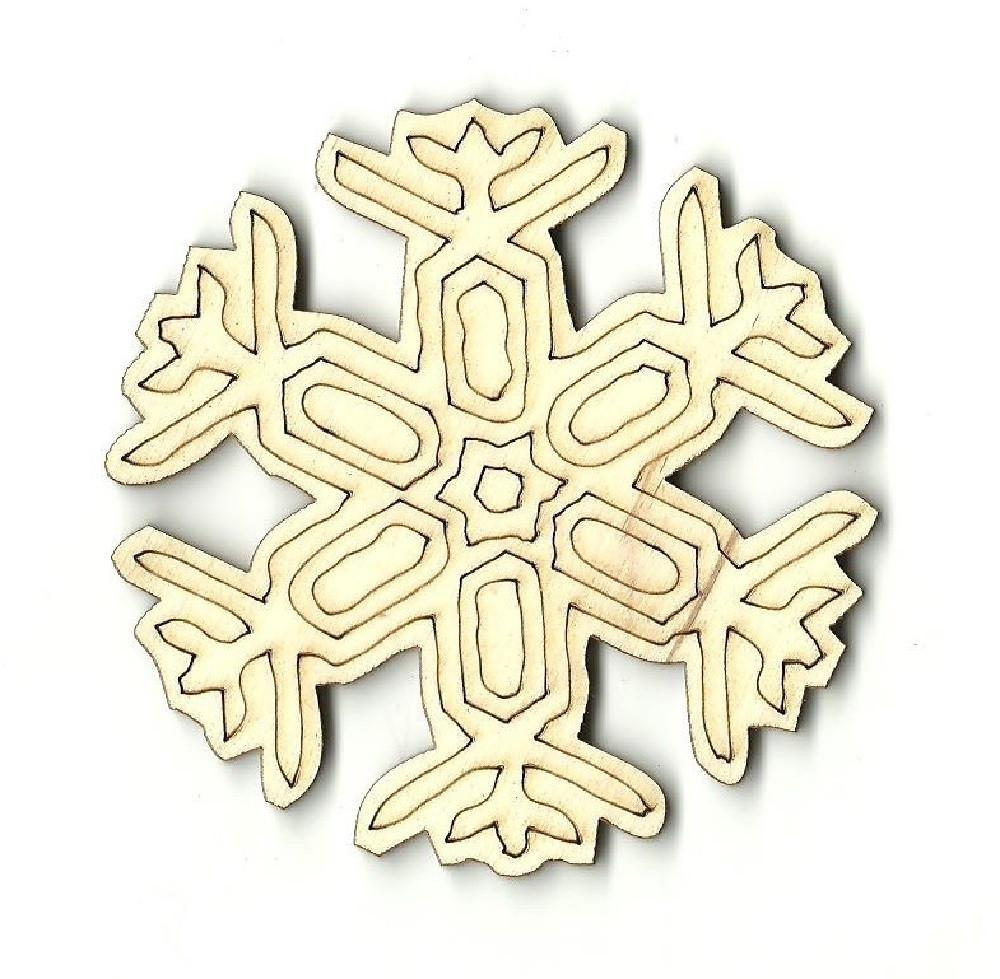 Snowflake - Laser Cut Wood Shape Snw31 Craft Supply