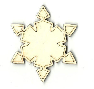 Snowflake - Laser Cut Wood Shape Snw33 Craft Supply