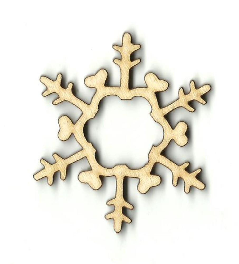 Snowflake - Laser Cut Wood Shape Snw25 Craft Supply
