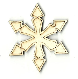 Snowflake - Laser Cut Wood Shape Snw38 Craft Supply