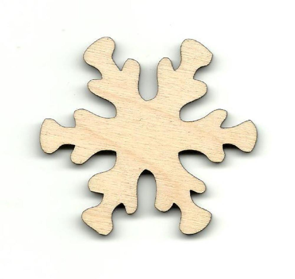 Snowflake - Laser Cut Wood Shape Snw3 Craft Supply