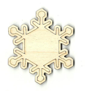 Snowflake - Laser Cut Wood Shape Snw41 Craft Supply