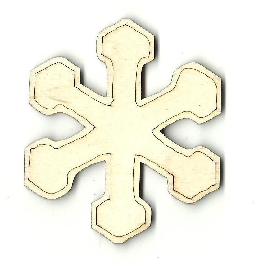 Snowflake - Laser Cut Wood Shape Snw45 Craft Supply