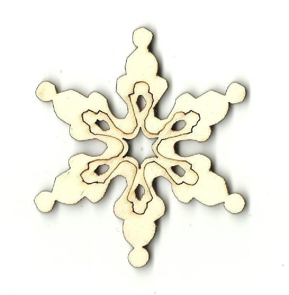 Snowflake - Laser Cut Wood Shape Snw46 Craft Supply