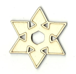 Snowflake - Laser Cut Wood Shape Snw53 Craft Supply