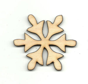 Snowflake - Laser Cut Wood Shape Snw54 Craft Supply