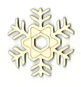 Snowflake - Laser Cut Wood Shape Snw55 Craft Supply
