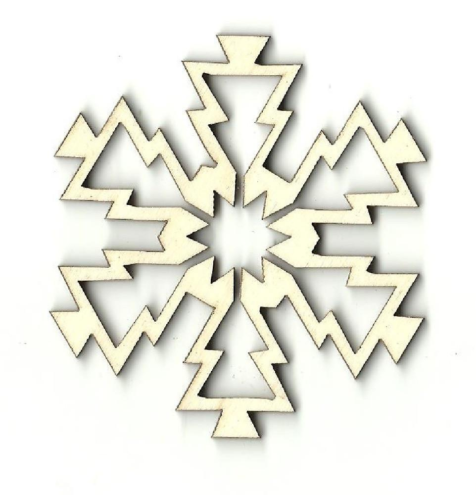 Snowflake - Laser Cut Wood Shape Snw60 Craft Supply