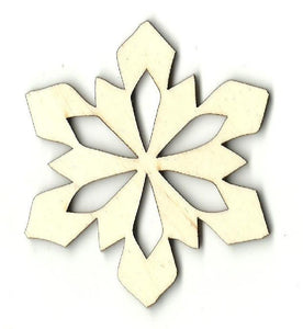 Snowflake - Laser Cut Wood Shape Snw64 Craft Supply