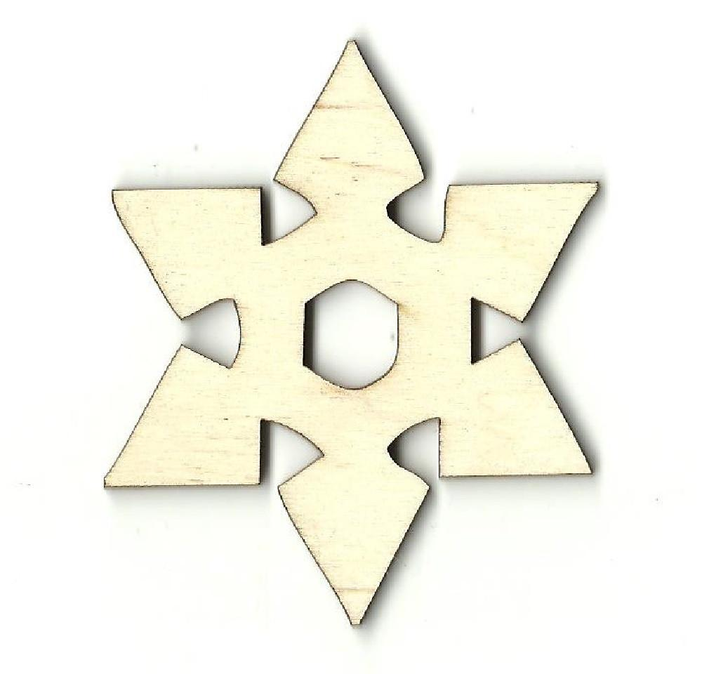 Snowflake - Laser Cut Wood Shape Snw65 Craft Supply