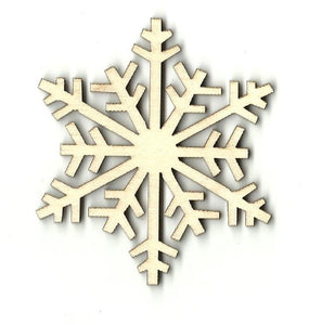 Snowflake - Laser Cut Wood Shape Snw8 Craft Supply