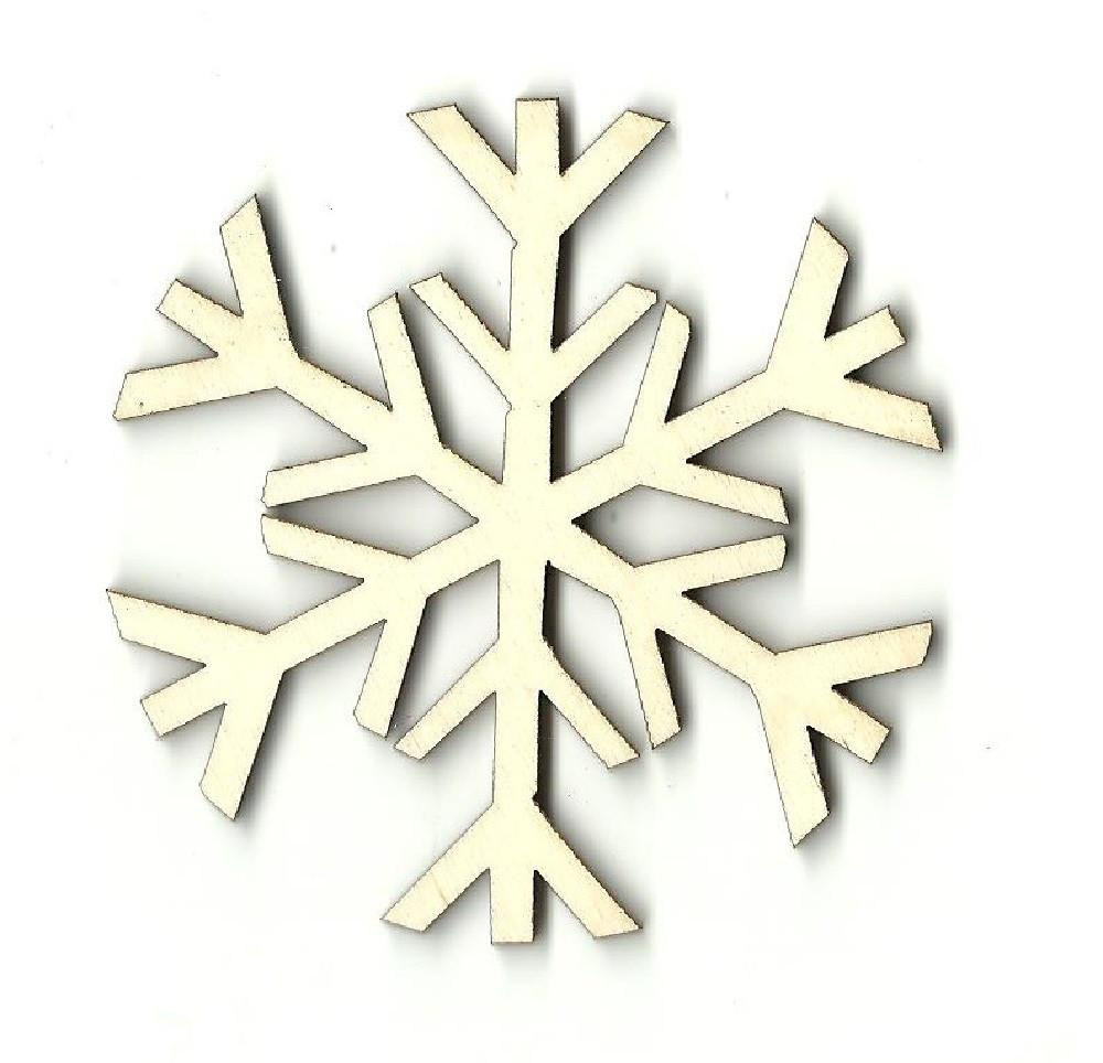Snowflake - Laser Cut Wood Shape Snw9 Craft Supply