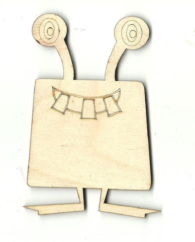Alien - Laser Cut Wood Shape Spc15 Craft Supply