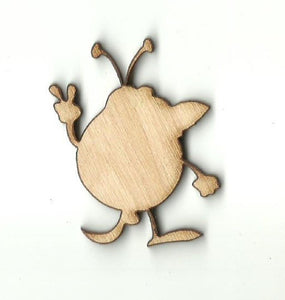 Alien - Laser Cut Wood Shape Spc29 Craft Supply