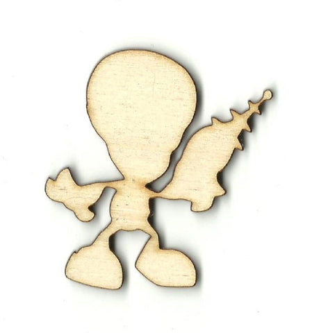 Alien - Laser Cut Wood Shape SPC40