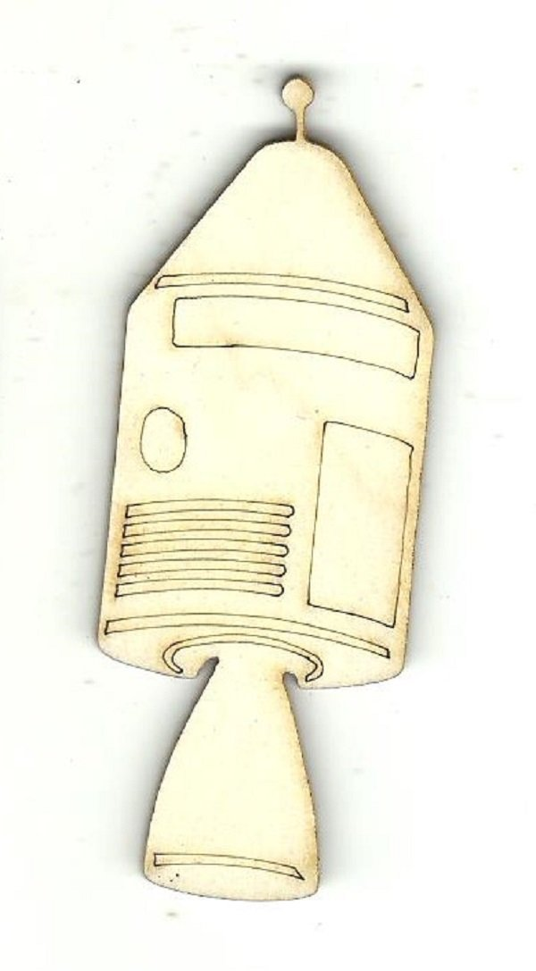 Rocket Ship - Laser Cut Wood Shape Spc50 Craft Supply