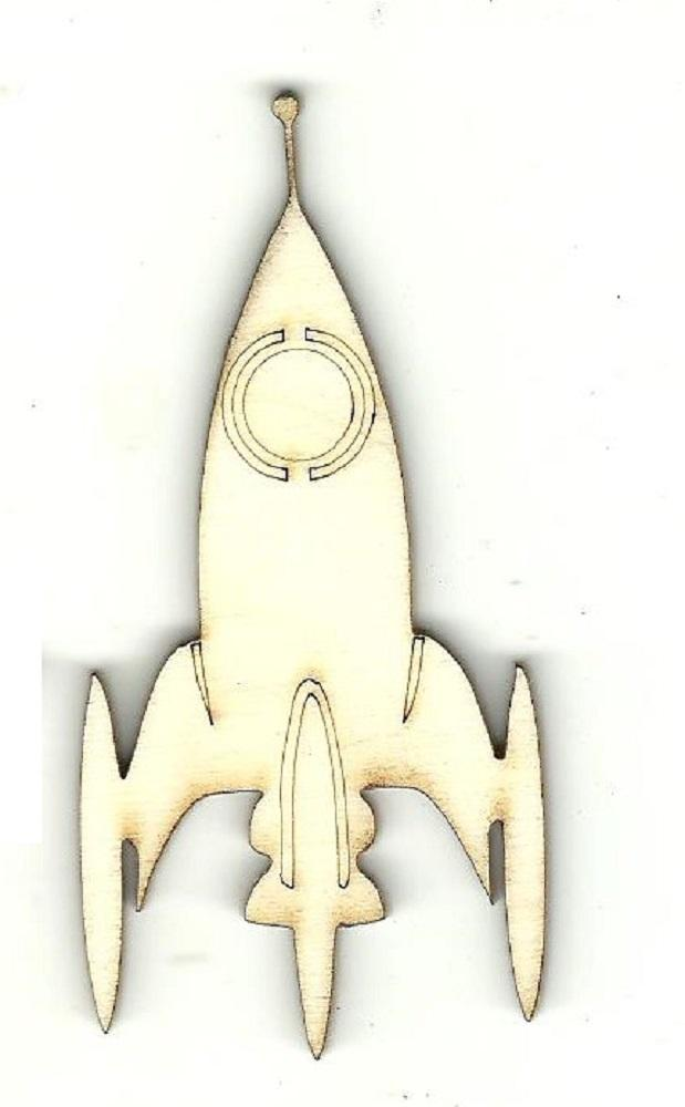 Space Ship - Laser Cut Wood Shape Spc52 Craft Supply