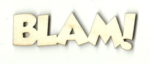 Blam! - Laser Cut Wood Shape Spr35 Craft Supply