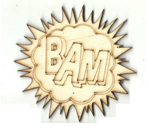 Bam! - Laser Cut Wood Shape Spr43 Craft Supply
