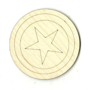 Captain America - Laser Cut Wood Shape Spr8 Craft Supply