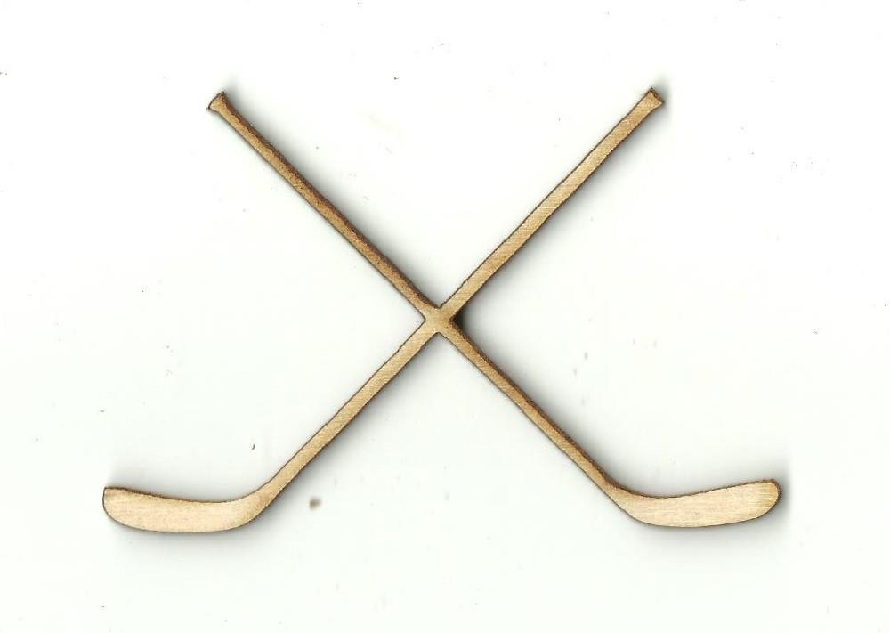 Hockey Sticks - Laser Cut Wood Shape Spt105 Craft Supply