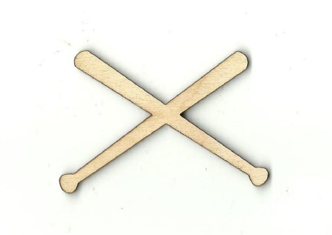 Baseball Bats - Laser Cut Wood Shape SPT132
