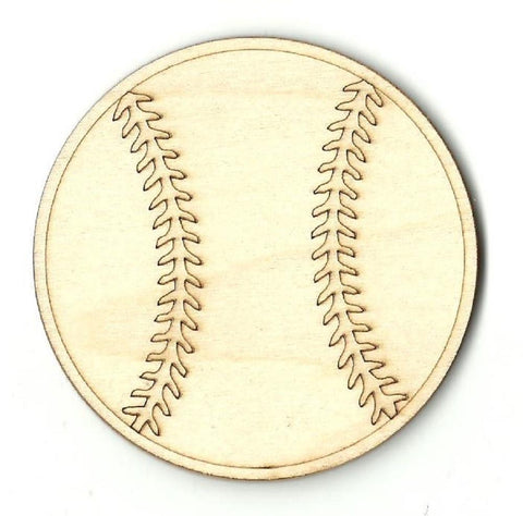 Baseball - Laser Cut Wood Shape SPT150