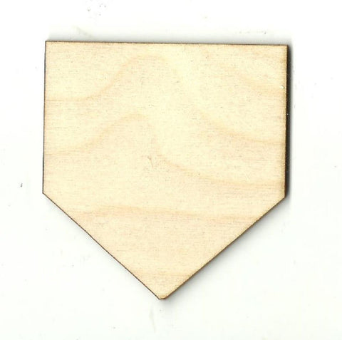 Baseball Home Plate - Laser Cut Wood Shape SPT160