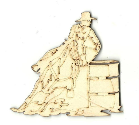 Barrel Racer - Laser Cut Wood Shape SPT171