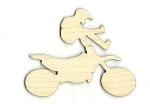 Dirt Bike Rider - Laser Cut Wood Shape Spt352 Craft Supply