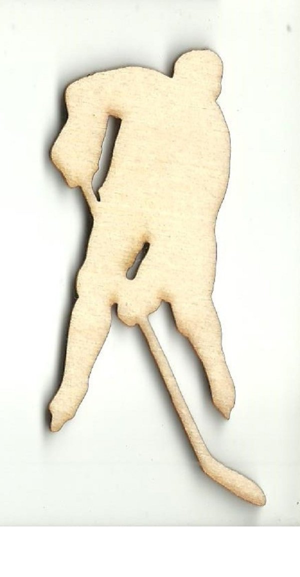 Hockey Player - Laser Cut Wood Shape Spt422 Craft Supply