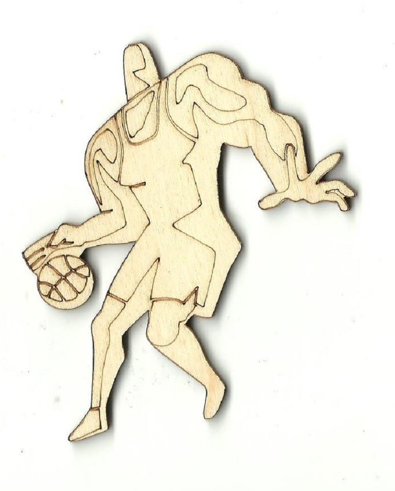 Basketball Player - Laser Cut Wood Shape Spt259 Craft Supply