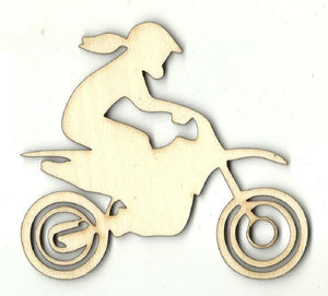 Dirt Bike Rider - Laser Cut Wood Shape Spt608 Craft Supply