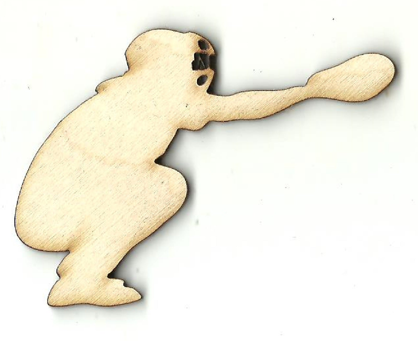 Baseball Catcher - Laser Cut Wood Shape SPT663