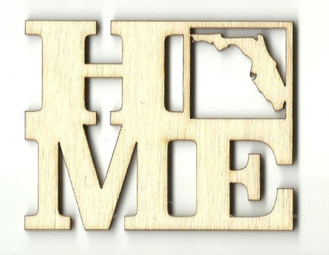 Florida Home - Laser Cut Wood Shape Stat8 Craft Supply