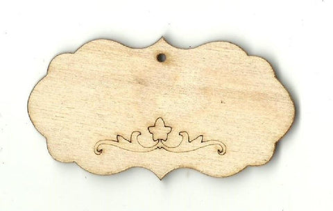 Gift Tag - Laser Cut Wood Shape Tag12 Craft Supply