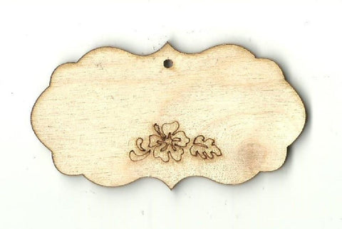 Gift Tag - Laser Cut Wood Shape Tag13 Craft Supply