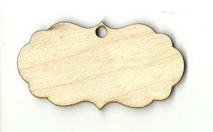 Gift Tag - Laser Cut Wood Shape Tag14 Craft Supply