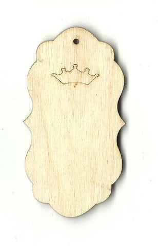 Gift Tag - Laser Cut Wood Shape Tag15 Craft Supply