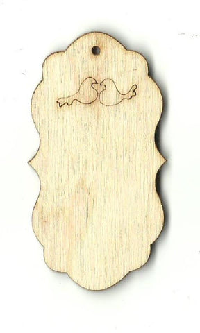 Gift Tag - Laser Cut Wood Shape Tag16 Craft Supply